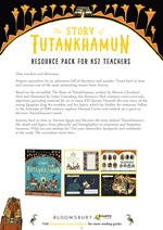 Free Teacher Resources - The Story of Tutankhamun Resource Pack for KS2 Teachers