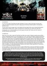 Free Teacher Resources - Wolf Children Reading Notes